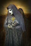 Pious Woman in Mask 1 Photographic Print by Ursula Kuprat