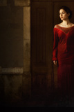 Woman in Red Dress in Darkness Photographic Print by Ricardo Demurez