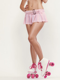 Pink Roller-Skates Photographie par Alex Maxim