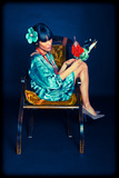 Woman in Turquoise 1 Photographic Print by Max Hertlischka