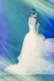 Young Mysterious Woman in Wedding Dress Photographic Print by Ricardo Demurez