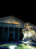 Pantheon and Fountain, Rome Photographic Print by Dolores Smart