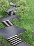Stairs in the Park Photographic Print by Max Hertlischka