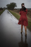 Woman in a Red Coat 3 Photographic Print by Svetlana Sewell