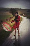 Woman in a Red Coat 4 Photographic Print by Svetlana Sewell