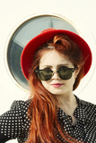 Red Hat 3 Photographic Print by Eugenia Kyriakopoulou