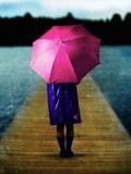 Woman with Pink Umbrella Photographic Print by Ricardo Demurez