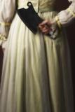 Woman in a White Dress with a Butcher's Cleaver Reproduction photographique par Ricardo Demurez