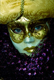 White and Gold Mask Photographic Print by Ursula Kuprat