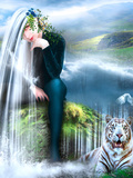 Woman with the Tiger Photographic Print by Svetlana Sewell
