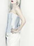 White Corset I Photographic Print by Eugenia Kyriakopoulou