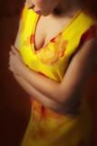 Woman in a Yellow Dress by Max Kurzweil Reproduction photographique par Ricardo Demurez
