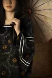 Woman with Umbrella Reproduction photographique par Ricardo Demurez