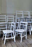 White Chairs Photographic Print by Stuart Brill