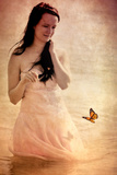 Woman in a White Dress 3 Photographic Print by Svetlana Sewell