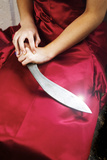 Woman and Knife Photographic Print by Stuart Brill