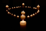 White Candles Photographic Print by Ron Hendricks
