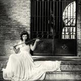 White VIolin IV Photographic Print by Eugenia Kyriakopoulou