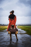 Woman in an Orange Coat 6 Photographic Print by Svetlana Sewell