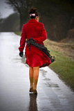 Woman in a Red Coat 7 Photographic Print by Svetlana Sewell