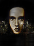 Woman and City Photographic Print by Gary Waters