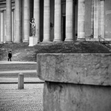 Passing by the Museum Photographic Print by Eugenia Kyriakopoulou