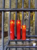 Red Candles Photographic Print by Ronaldo Pichardo