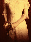 Woman in Wedding Dress with Doll Photographic Print by Ricardo Demurez