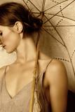 Young Woman with Umbrella 2 Reproduction photographique par Ricardo Demurez