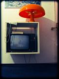 Tv Witch Orange Lamp Photographic Print by Max Hertlischka