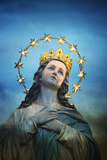 Virgen Mary Statue, Italy Photographic Print by Dolores Smart