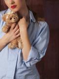 Woman with Teddy Bear Photographic Print by Ricardo Demurez