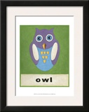 O is for Owl Posters by Chariklia Zarris