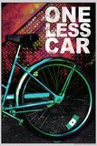 Bicycle - One Less Car Poster Photo