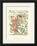 Shakespeare's Garden III (Rose) Poster by Walter Crane