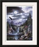 Moonlit Eagle Prints by Alma Lee