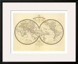 Mappemonde, c.1849 Poster by Eugene Andriveau-goujon