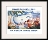 Hawaii by Flying Clipper, Pan American Airways System Framed Giclee Print