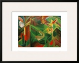 Deer in the Convent Garden Framed Giclee Print by Franz Marc