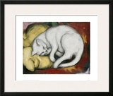 The White Cat Framed Giclee Print by Franz Marc
