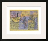 Steamboat and Sailing Boats, c.1931 Art by Paul Klee