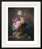 Rich Still Life of Roses Posters by Arnoldus Bloemers