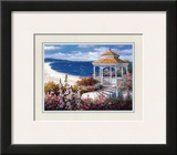 Gazebo on Beach Prints by T. C. Chiu