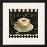 Cafe Parisien III Art by Daphne Brissonnet