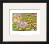 Water Lily Pond at Giverny Posters by Claude Monet