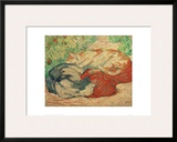 Cats on a Red Blanket Framed Giclee Print by Franz Marc