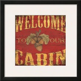 Lodge Welcome Prints by Stephanie Marrott