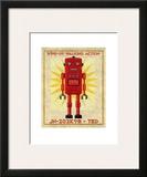 Ted Box Art Robot Prints by John Golden