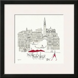 World Cafel IV - Venice Red Print by Avery Tillmon