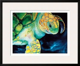 Timeless Wisdom, Hawaiian Sea Turtle Framed Giclee Print by Ari Vanderschoot